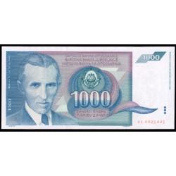 Yugoslavia 1.000 Dinares PK 110 (1.991) S/C