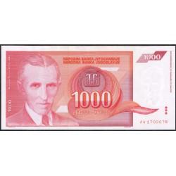 Yugoslavia 1.000 Dinares PK 114 (1.992) S/C