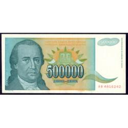 Yugoslavia 500.000 Dinares PK 131 (1.993) S/C