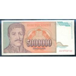 Yugoslavia 5.000.000 Dinares PK 132 (1.993) S/C
