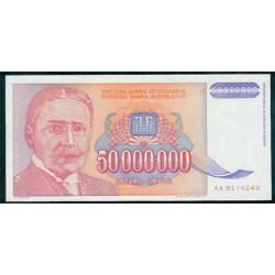 Yugoslavia 50.000.000 Dinares PK 133 (1.993) S/C