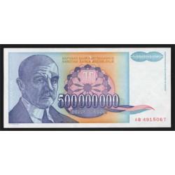 Yugoslavia 500.000.000 Dinares PK 134 (1.993) EBC