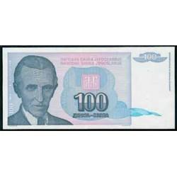 Yugoslavia 100 Dinares PK 139 (1.994) S/C