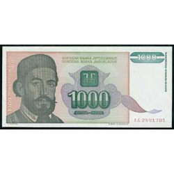 Yugoslavia 1.000 Dinares PK 140 (1.994) S/C