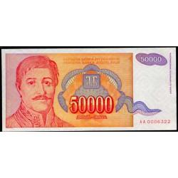 Yugoslavia 50.000 Dinares PK 142 (1.994) S/C