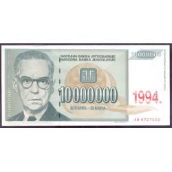 Yugoslavia 10.000.000 Dinares PK 144 (1.994) S/C