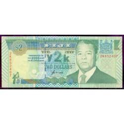 Fiji 2 Dólares Pk 102 (2.000) S/C