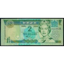 Fiji 2 Dólares Pk 104a (2.002) S/C