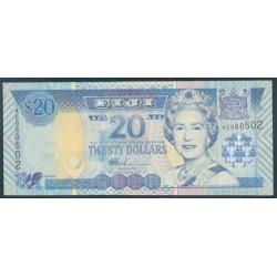 Fiji 20 Dólares Pk 107 (2.002) S/C