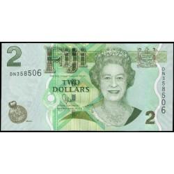 Fiji 2 Dólares Pk 109b (2.012) S/C
