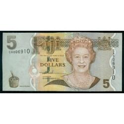 Fiji 5 Dólares Pk 110 (2.007) S/C