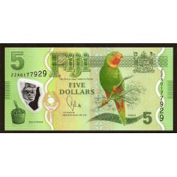 Fiji 5 Dólares Pk 115 (2.013) S/C