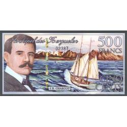 Islas Kerguelen 500 Francos (15-3-2.011) S/C
