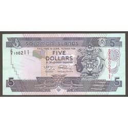 Islas Salomón 5 Dólares Pk 26 (2) (2.009) S/C