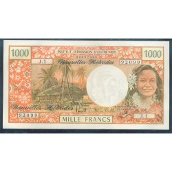 Nuevas Hébridas 1.000 Francos Pk 20c (1.980) S/C