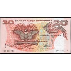 Papúa Nueva Guinea 20 Kina PK 10c (Sin fecha) S/C