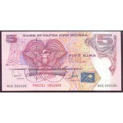 Papúa Nueva Guinea 5 Kina Pk 20 (19-4-2.000) S/C