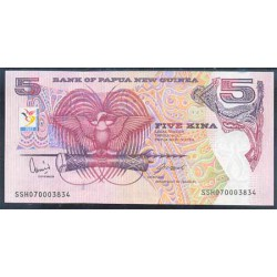 Papúa Nueva Guinea 5 Kina Pk 34 (2.007) S/C