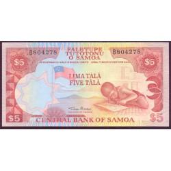 Samoa Occidental 5 Tala PK 26 (1.985) S/C