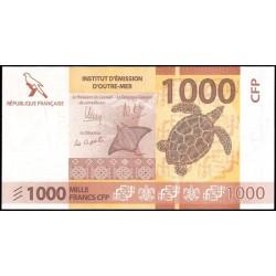 Territorios Franceses del Pacífico 1.000 Francos Pk Nuevo (2.014) S/C
