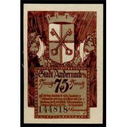 Andernach 75 Pfennig (1-12-1.920) KL 31b S/C-