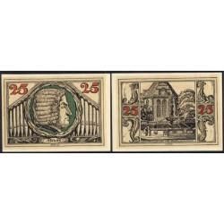 """Arnstadt 2 de 25 Pfennig (""""A"""" y """"r"""") (1.921) KL 42. Lote 1 de 9 S/C-"""
