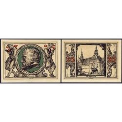 """Arnstadt 2 de 25 Pfennig (""""n"""" y """"st"""") (1.921) KL 42. Lote 2 de 9 S/C-"""