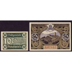 Bischofsheim 10 y 50 Pfennig (Sin fecha) KL 102 Lote 1 de 2 S/C-