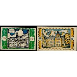 Braunshweig 10 y 25 Pfennig (1-5-1.921)KL 147d Lote 1 de 2 S/C-
