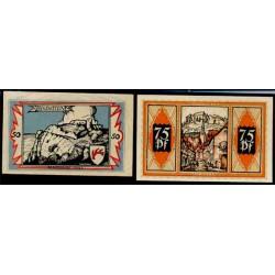Braunshweig 50 y 75 Pfennig (1-5-1.921) KL 147d Lote 2 de 2 S/C-