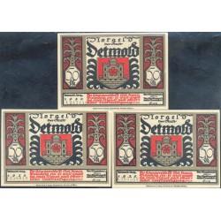 Detmold 3 de 50 Pfennig (4,5 y 6) (Agosto de 1.920) KL 259f Lote 2 de 3 S/C-