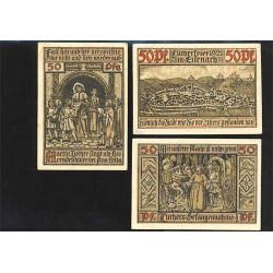 Eisenach 3 de 50 Pfennig (31-5-1.921) KL 308b Lote 1 de 2 S/C-