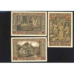 Eisenach 3 de 50 Pfennig (31-5-1.921) KL 308b Lote 2 de 2 S/C-
