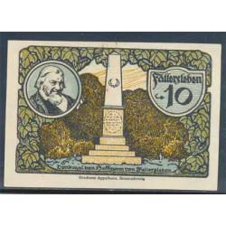 Fallersleben 10 Pfennig (1-10-1.921) KL 346 Lote 1 de 3 S/C-