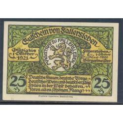 Fallersleben 25 Pfennig (1-10-1.921) KL 346 Lote 2 de 3 S/C-