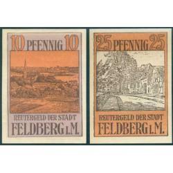 Feldberg 10 y 25 Pfennig (31-5-1.922) KL 347 Lote 1 de 2 S/C-