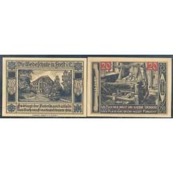 Forst i. L. 10 y 20 Pfennig (1-7-1.921) KL 357 Lote 1 de 2 S/C-