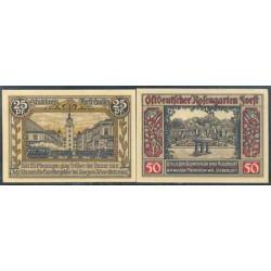 Forst i. L. 25 y 50 Pfennig (1-7-1.921) KL 357 Lote 2 de 2 S/C-