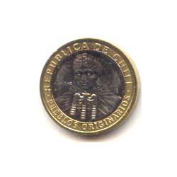 Chile 2005 100 Pesos Bimetálica S/C