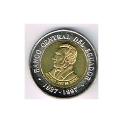 Ecuador 1997 100 Sucres (Bimetálica) S/C