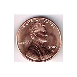 Estados Unidos 2010 1 Centavo Letra D S/C