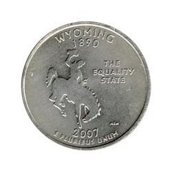 Estados Unidos (Estados) 2007 1/4 Dolar Letra P Wyoming S/C