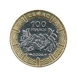 África Central 2006 100 Francos FCFA (Bimetálica) S/C