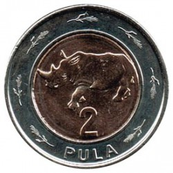 Botswana 2013 2 Pula (Rinoceronte) S/C