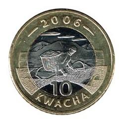 Malawi 2006 10 Kwacha (Bimetálica) S/C