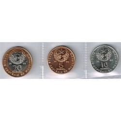 Mauritania 2009 3 valores (5,10 y 20 Ougiya) S/C