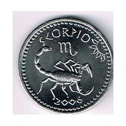 Somalilandia 2006 10 Shillings Horóscopo (Escorpio) S/C