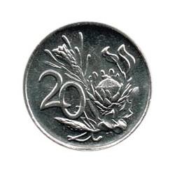 Sudáfrica 1990 20 Cents (Flor Protea) S/C