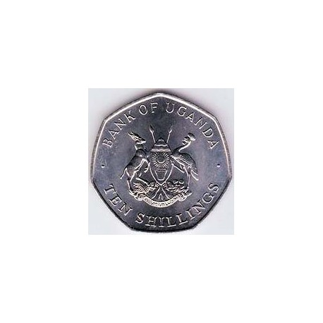 Uganda 1987 10 Shillings S/C