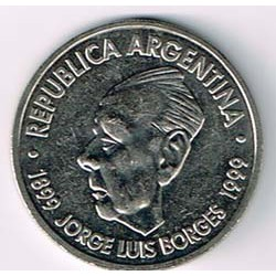 Argentina 1999 2 Pesos (Jorge Luis Borges) S/C